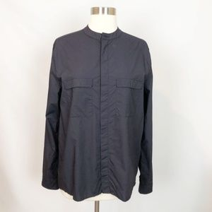 Oak+Fort Midnight Navy Cotton Button Down Small